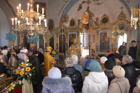 Праздничная архиерейская служба в день памяти Апостола Андрея Первозванного в храме Рождества Богородицы