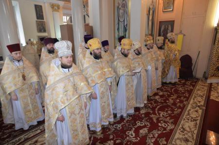 Празднование дня памяти святого Апостола Андрея Первозванного в Свято-Духовском соборе Херсона